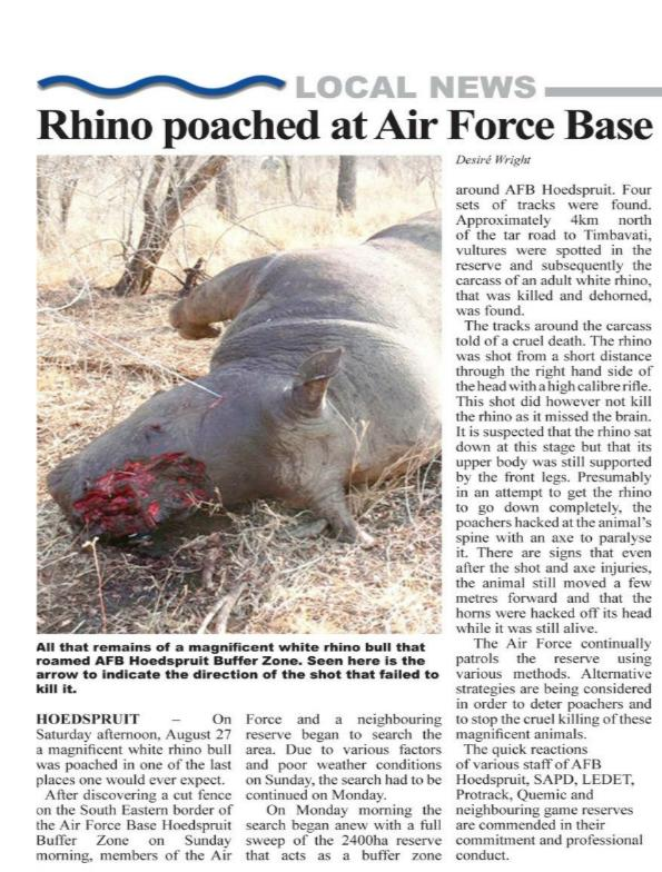 stop poaching essay Search essay examples browse by category  stop killing the animal essay examples 1 total result a report against the practice of poaching in africa 473 words.